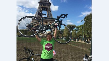Christina Wise, from Ipswich, took on the London to Paris challenge in memory of her husband, Andy,