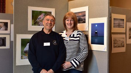 Annual Ipswich and District Photographic Society exhibition at the Ipswich Town Hall. David and Sal