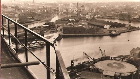 The view of Ipswich from the MAN gas holder is similar to that painted by Leonard Squirrell in 1938