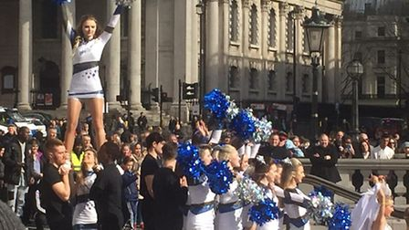The Ballsitics cheerleading team from one sixth form in Suffolk performing at the Britain's Got Tale