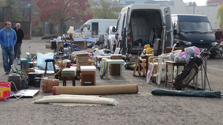 A shot from the car boot sale at portman road car park every sunday