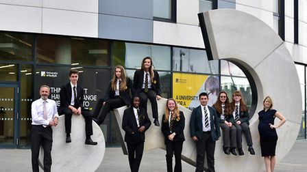 Stoke High School and St Albans High School are joining forces with the University of Suffolk on a p