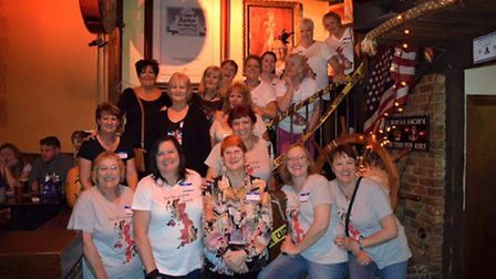 Members of the 'Yes I'm from Ipswich' group meet up in Las Vegas