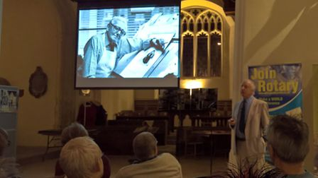 Local expert John Field gave a presentation about the life and work of cartoonist Carl Giles, and hi