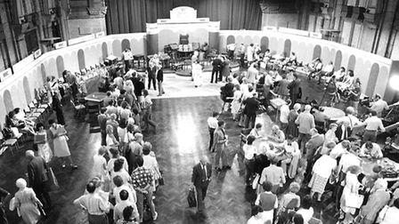 BBC transformed the Corn Exchange to become the set of an episode of Antiques Roadshow, which travel