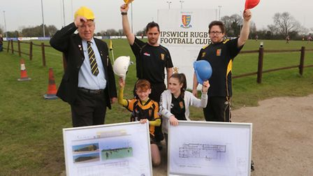 Plans for a new clu house to be built at Ipswich Rugby Club were unveiled at the ground on Sunday.