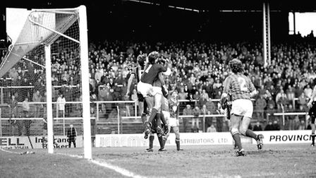 Town had their fair share of chances at the Cardiff goal during their third round match in 1984
