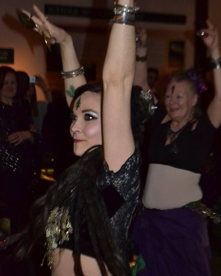 Hara Tribal belly dancers perform amongst the audience at Ipswich Museum. Picture: Andy Hussey