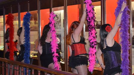 Burlesque Jems wow the crowds at Ipswich Museum. Picture: Andy Hussey