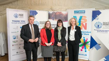 Emily Tiplady-Ead (centre) meets the shadow minister for children and families, Emma Lewell-Buck MP,