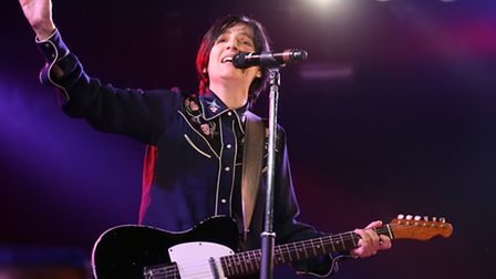 Sharleen Spiteri from Texas performs on the Six Music stage during the Latitude Festival at Henham P