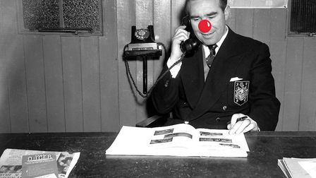 Alf Ramsey, in his tiny office at Portman Road in 1961.