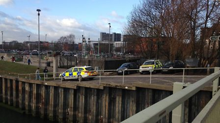 Stock image of a previous, similar rescue incident near Stoke Bridge skate park in Ipswich.