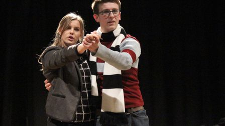 Beth Campbell and Luke Griffin during One's showing of Rent. Picture: One