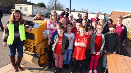 A two-tonne steam roller created giant wall hangings to help connect Whitehouse and Whitton primary