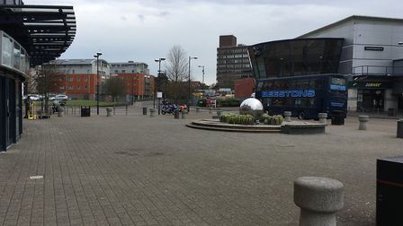 The space outside Cineworld in Ipswich where Starbucks is planning to set up outdoor tables and chai