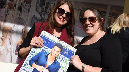 Peter Andre met his fans at the Buttermarket in Ipswich on Saturday April 1. Vicki Barham and Katie