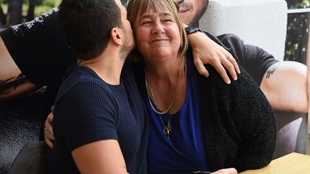 Peter Andre met his fans at the Buttermarket in Ipswich on Saturday April 1. Audrey Buglione meetin