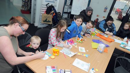 Gainsborough Library in Ipswich regularly holds activities for children, such as Easter crafts in 20