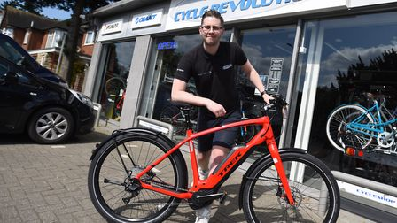 Ditch the Car case study - Thomas's Cycle Revolution. Pictured is Sam Clougherty. Picture GREGG BROW