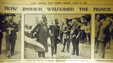 Flashback to 1930, when the Prince of Wales opened Ipswich Airport. Picture: ARCHANT
