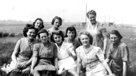 Ipswich Airport was a bomber and Spitfire base during the Second World War. These women were some of