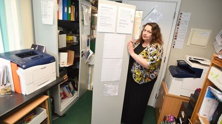 Happy Tots Pre-school manager Lisa Fulcher inspects the damage. Photo: ARCHANT