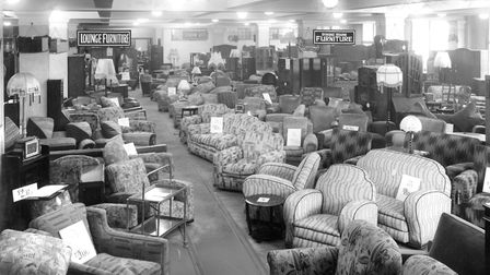 A section of the furniture department at FootmanÕs store in the 1930s, when the average cost of a th