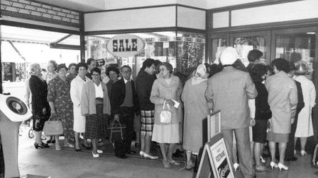 Huge queues would form for the sales at FootmanÕs store.