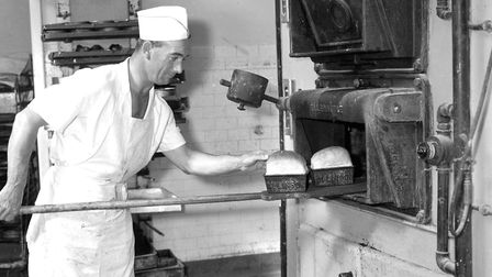 Who were these men working in the bakery at FootmanÕs Ipswich in 1966? (Photo by Ivan Smith/Archant)