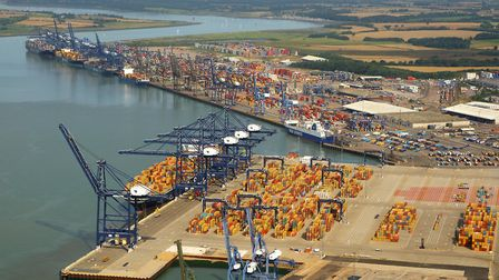 Felixstowe Port. Picture: MIKE PAGE