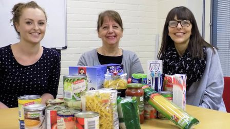 : Genesis PR kick-starts its pro-bono support for FIND with donations to the charity's foodbank. (L-