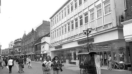 The front of Woolworths on Carr Street, Ipswich, in 1990. Picture: DAVID KINDRED