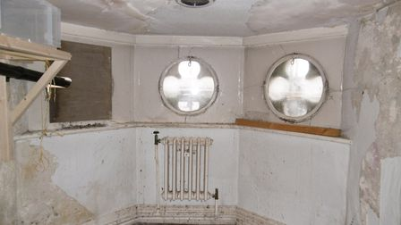 Restoration to create new flagship office in Princes Street, Ipswich. The turret room