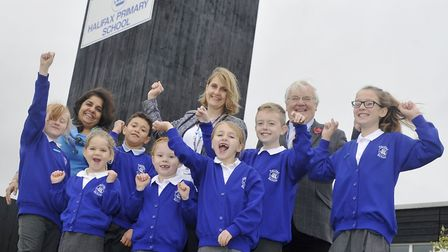 Orwell Multi-Academy Trust chief executive Anna Hennell James (centre) and chairman of trustees Roge