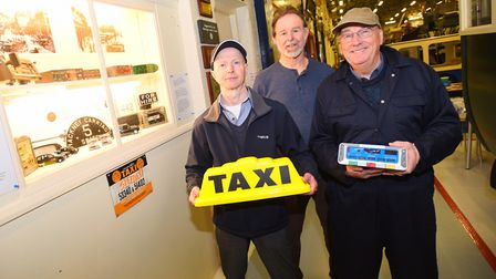 Two former taxi drivers in Ipswich have been working to get a vintage taxi display at Ipswich Transp