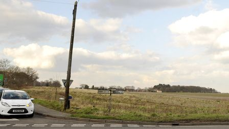 Proposed site for new homes at the junction of Bell Lane and Foxhall Road