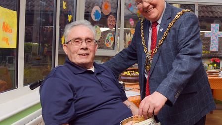 Derrick Page and Mayor Roger Fern. Picture: Sarah Lucy Brown