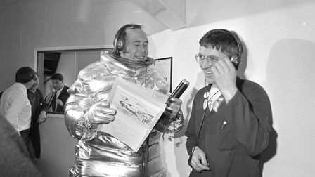 Chris Opperman conducted a lot of his first broadcast dressed in a spaceman suit