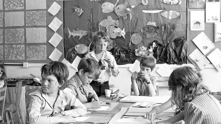 Are you one of the boys in the art and craft lesson at Britannia Road, School, Ipswich, in 1977?