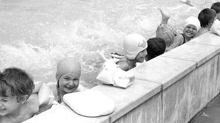 A busy day at the Britannia Road Primary SchoolÕs swimming pool in 1977.