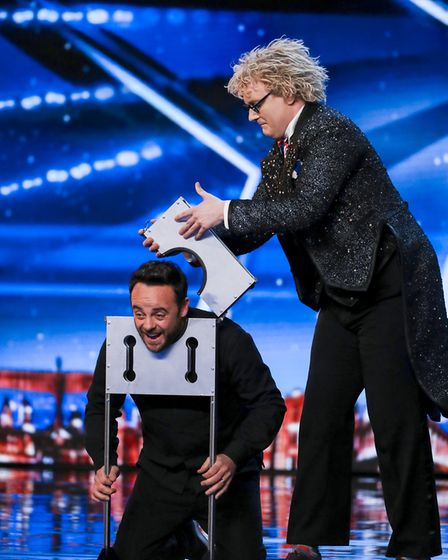 Ant helped out magician Niels Harder. Photo: Tom Dymond / ITV / Thames / Syco