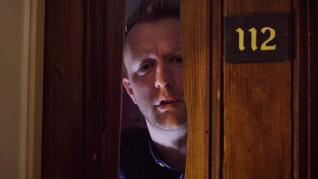 Face at the doorway. The Haunted Hotel, the latest feature from FILM Suffolk who are looking for cro