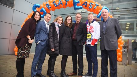 Official launch of the Great East Run. Endeavour House, Ipswich.