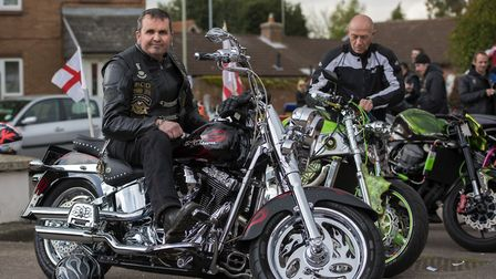 10th annual St George's Day Charity Bike Show and Meet at The Bell Inn in Kesgrave . Pictured is Pa