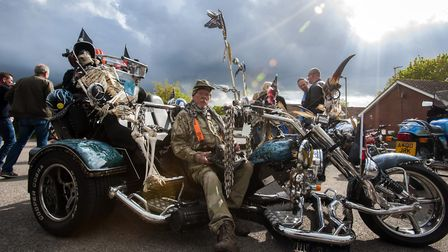 10th annual St George's Day Charity Bike Show and Meet at The Bell Inn in Kesgrave . Pictured is Da
