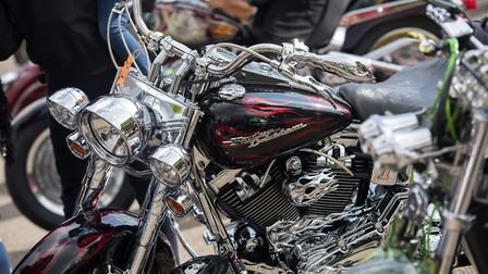 10th annual St George's Day Charity Bike Show and Meet at The Bell Inn in Kesgrave. Pictured is on