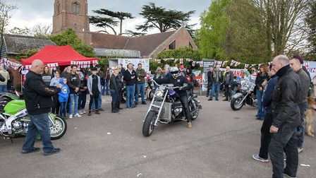 10th annual St George's Day Charity Bike Show and Meet at The Bell Inn in Kesgrave . Visitors check