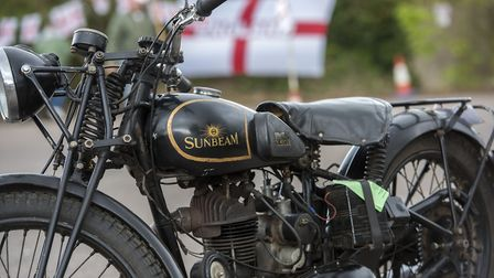 10th annual St George's Day Charity Bike Show and Meet at The Bell Inn in Kesgrave . Pictured is on