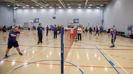 Suffolk Special Olympics badminton tournament at One in Ipswich . Picture: ASHLEY PICKERING
